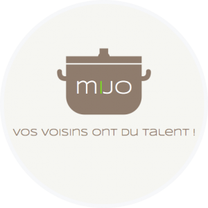 Logo Mijo dans cercle avec rebord épais